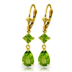 ALARRI 4.5 CTW 14K Solid Gold Iconic Wave Peridot Earrings