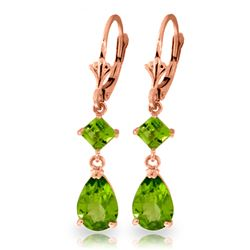 ALARRI 4.5 CTW 14K Solid Rose Gold Laughter Peridot Earrings