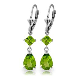 ALARRI 4.5 CTW 14K Solid White Gold My Heart In Your Hands Peridot Earrings
