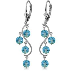 ALARRI 4.95 Carat 14K Solid Gold Spring Year Round Blue Topaz Earrings