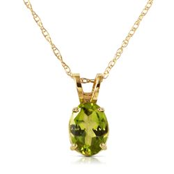 ALARRI 0.85 CTW 14K Solid Gold Surprised By Joy Peridot Necklace