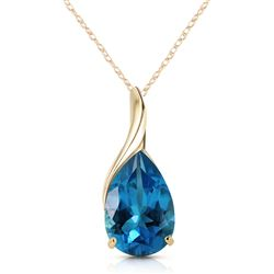 ALARRI 4.7 Carat 14K Solid Gold Love Sonnets Blue Topaz Necklace