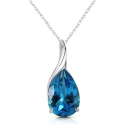 ALARRI 4.7 CTW 14K Solid White Gold Life Is Eventful Blue Topaz Necklace