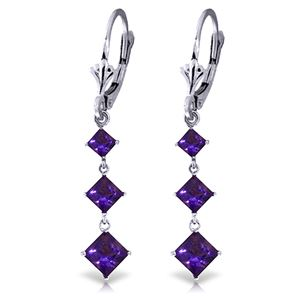 ALARRI 4.79 Carat 14K Solid White Gold Chandelier Earrings Amethyst