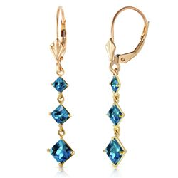 ALARRI 4.79 Carat 14K Solid Gold Giving Blue Topaz Earrings