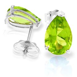 ALARRI 3 Carat 14K Solid White Gold Sweet Charmer Peridot Earrings