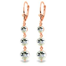 ALARRI 7.2 Carat 14K Solid Rose Gold Chandelier Earrings Aquamarine