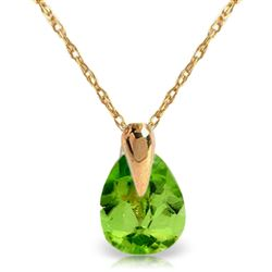 ALARRI 0.68 Carat 14K Solid Gold Fond Kiss Peridot Necklace