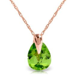 ALARRI 0.68 Carat 14K Solid Rose Gold Enduring Peridot Necklace