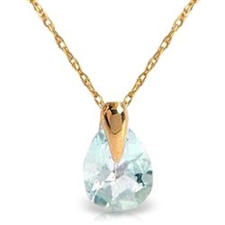 ALARRI 0.68 CTW 14K Solid Gold Necklace Natural Aquamarine