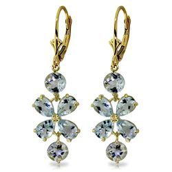 ALARRI 5.32 Carat 14K Solid Gold Chandelier Earrings Aquamarine