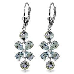 ALARRI 5.32 Carat 14K Solid White Gold Chandelier Earrings Aquamarine