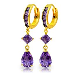 ALARRI 5.62 Carat 14K Solid Gold Temptation Amethyst Earrings