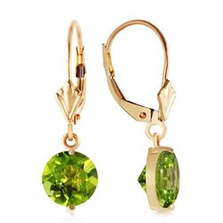 ALARRI 3.1 CTW 14K Solid Gold Charmed Life Peridot Earrings
