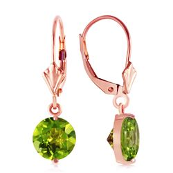 ALARRI 3.1 Carat 14K Solid Rose Gold Youth Peridot Earrings