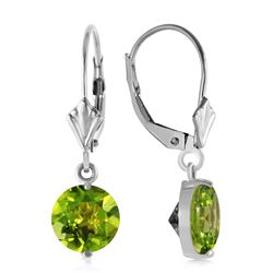 ALARRI 3.1 Carat 14K Solid White Gold In You I Trust Peridot Earrings
