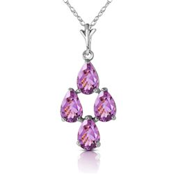 ALARRI 3 Carat 14K Solid White Gold Being Real Amethyst Earrings