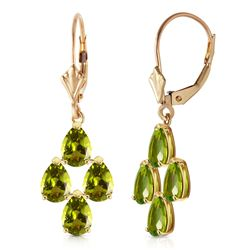 ALARRI 4.5 Carat 14K Solid Gold Parisienne Peridot Earrings