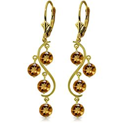 ALARRI 4.95 Carat 14K Solid Gold Grape Citrine Earrings