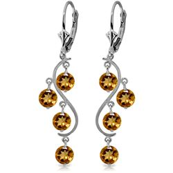 ALARRI 4.95 Carat 14K Solid Gold Epic Love Citrine Earrings