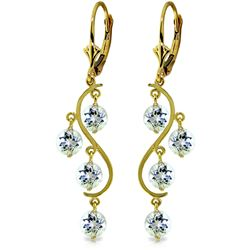 ALARRI 4.5 CTW 14K Solid Gold Grape Aquamarine Earrings