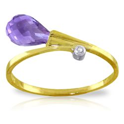 ALARRI 1.51 CTW 14K Solid Gold Love's Remedy Amethyst Diamond Ring
