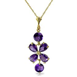 ALARRI 3.15 Carat 14K Solid Gold Specially For You Amethyst Necklace