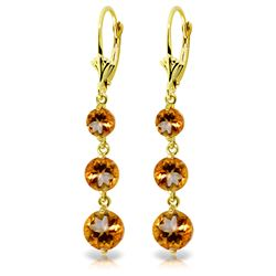 ALARRI 7.2 Carat 14K Solid Gold Rainfall Citrine Earrings