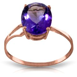 ALARRI 2.2 CTW 14K Solid Rose Gold Opulence Purple Amethyst Ring