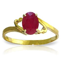 ALARRI 1.15 Carat 14K Solid Gold Ring Natural Ruby
