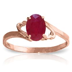 ALARRI 1.15 Carat 14K Solid Rose Gold Ring Natural Ruby