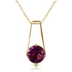 ALARRI 1.45 CTW 14K Solid Gold Anything For You Amethyst Necklace