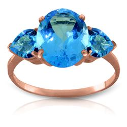 ALARRI 4.2 Carat 14K Solid Rose Gold Bounty Blue Topaz Ring