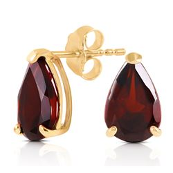 ALARRI 2.55 Carat 14K Solid Gold Stud Earrings Natural Garnet