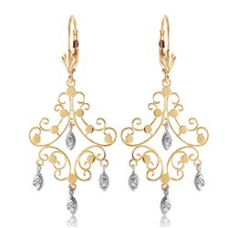 ALARRI 0.04 Carat 14K Solid Gold Chandelier Diamond Earrings