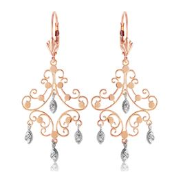 ALARRI 0.04 Carat 14K Solid Rose Gold Chandelier Diamond Earrings