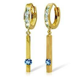 ALARRI 1.35 Carat 14K Solid Gold Worthwhile Blue Topaz Earrings