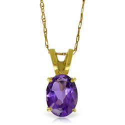 ALARRI 0.85 CTW 14K Solid Gold Just Us Amethyst Necklace