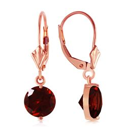 ALARRI 3.1 CTW 14K Solid Rose Gold Garnet Fantasy Earrings