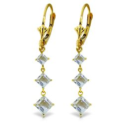 ALARRI 4.79 Carat 14K Solid Gold Waterdrops Aquamarine Earrings