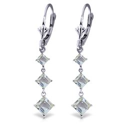 ALARRI 4.79 Carat 14K Solid White Gold You Enlighten Me Aquamarine Earrings