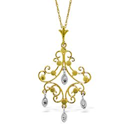 ALARRI 0.02 CTW 14K Solid Gold Chandelier Necklace Diamond