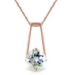 ALARRI 1.45 Carat 14K Solid Rose Gold Gold Necklace Aquamarine