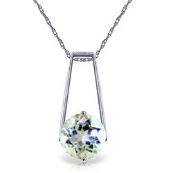 ALARRI 1.45 Carat 14K Solid White Gold Gold Necklace Aquamarine