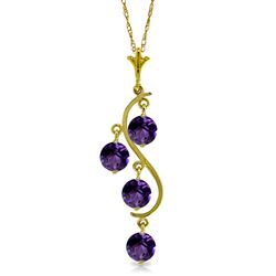 ALARRI 2.25 CTW 14K Solid Gold Love Loving You Amethyst Necklace