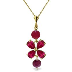 ALARRI 3.15 CTW 14K Solid Gold The Rain Came Ruby Necklace