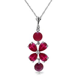 ALARRI 3.15 CTW 14K Solid White Gold You Win Again Ruby Necklace