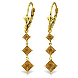 ALARRI 4.79 Carat 14K Solid Gold Becoming Citrine Earrings