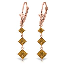 ALARRI 4.79 CTW 14K Solid Rose Gold Citrine Sunny Drop Earrings