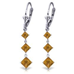 ALARRI 4.79 CTW 14K Solid White Gold Rebellious Citrine Earrings